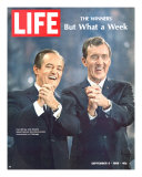 Democratic Primary Winners, Pres Candidate Hubert Humphrey and VP Edmund Muskie, September 6, 1968 Premium Photographic Print by Lee Balterman