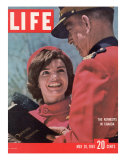 Jacqueline Kennedy Chatting with Canadian Mounted Policeman During Visit with JFK, May 26, 1961 Photographic Print by Leonard Mccombe