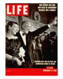 Dwight D. Eisenhower and Mamie, November 17, 1952 Photographic Print by Hank Walker