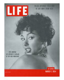 Actress Rita Moreno, March 1, 1954 Photographic Print by Loomis Dean