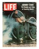Singer Johnny Cash, November 21, 1969 Premium Photographic Print by Michael Rougier