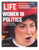 Women in Politics, Feminist Congresswoman Bella Abzug, June 9, 1972 Photographic Print by Leonard Mccombe