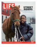 Dante at Fletcher Street Stables where Philadelphia's Inner City Kids Ride Horses, April 22, 2005 Photographic Print by Martha Camarillo