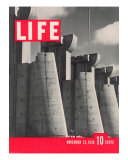 First LIFE Cover with Fort Peck Dam, November 23, 1936 Photographic Print by Margaret Bourke-White