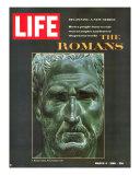 The Romans, Bust of a Roman Citizen from the Museo Nazionale in Naples, March 4, 1966 Fotografie-Druck von Gjon Mili