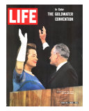 Sen. Barry Goldwater and Wife at Republican Convention, July 24, 1964 Photographic Print by Bill Ray