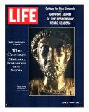 The Caesars: Madmen, Statesmen and Saints, Bust of Emperor Marcus Aurelius, June 3, 1966 Fotografie-Druck von Gjon Mili