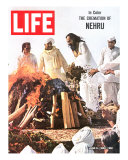 Cremation of Indian PM Nehru, June 5, 1964 Photographic Print by Larry Burrows