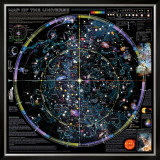 Map of Universe - &#169;Spaceshots Posters