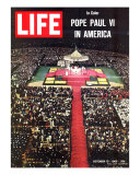 Pope Paul VI Visit to America, Mass at Yankee Stadium, October 15, 1965 Photographic Print by Michael Rougier