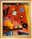 Heavy Red Prints by Wassily Kandinsky