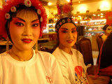 Performers from Sichuan Opera, Shu Feng Ya Yun Tea House in Chengdue, Shaanxi Province, China Photographic Print by Pete Oxford