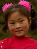 Child in the Forbidden City, National Palace Museum, Beijing, China Photographic Print by Pete Oxford