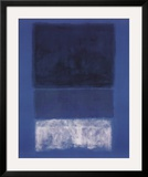No 14. White and Greens in Blue Art by Mark Rothko
