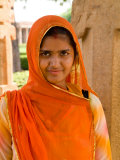 Woman in Sari Dress at Qutub Minar Complex, New Delhi, India Photographic Print by Bill Bachmann