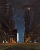 Manhattan by Night Print by Daniel Castan