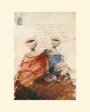 Bedouins Assis I (Etude) Prints by Yann Letestu