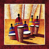 Les Percussionnistes Prints by Moga