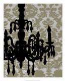 Chandelier Silhouette II Prints by Ethan Harper