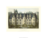 Petite French Chateaux III Premium Giclee Print by Victor Petit