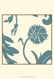 Teal Floral Motif III Prints by Chariklia Zarris