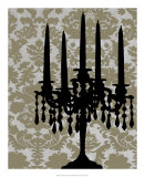 Candelabra Silhouette I Posters by Ethan Harper