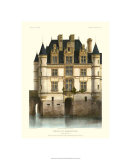 Petite French Chateaux XI Premium Giclee Print by Victor Petit