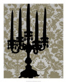 Candelabra Silhouette II Art by Ethan Harper