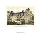 Petite French Chateaux V Premium Giclee Print by Victor Petit