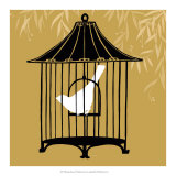 Birdcage Silhouette I Print by Erica J. Vess