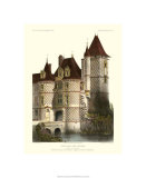 Petite French Chateaux X Premium Giclee Print by Victor Petit