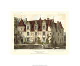 Petite French Chateaux VI Premium Giclee Print by Victor Petit
