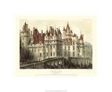 Petite French Chateaux VII Premium Giclee Print by Victor Petit