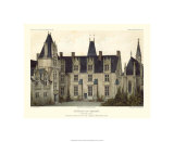 Petite French Chateaux VIII Premium Giclee Print by Victor Petit