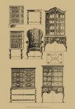 English Baroque Furniture Poster