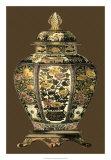 Jarre en porcelaine aux tons ambrés II Affiches