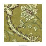 Pistachio Paisley II Premium Giclee Print by Chariklia Zarris