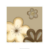 Pop Blossoms in Neutral I Giclee Print by Erica J. Vess
