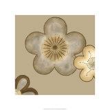 Pop Blossoms in Neutral II Giclée-Premiumdruck von Erica J. Vess