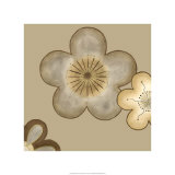Pop Blossoms in Neutral II Giclee Print by Erica J. Vess