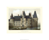 Petite French Chateaux II Premium Giclee Print by Victor Petit