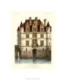 Petite French Chateaux IX Premium Giclee Print by Victor Petit