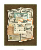 Stock Certificate Collection Giclee Print