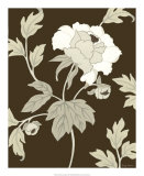 Neutral Peony Elegance II Poster by Nancy Slocum