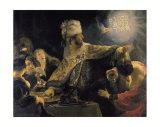 Belshazzar's Feast Art by  Rembrandt van Rijn