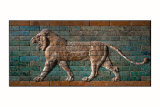 Babylon Lion in Glazed Brick Relief Prints