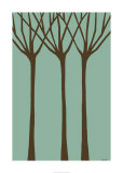 Dichromatic Elms I Giclee Print by Vanna Lam