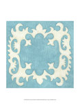 Petite Suzani in Blue Kunst von Chariklia Zarris