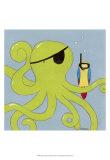 Captain Calamari Poster von Erica J. Vess