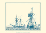 Sailing Ships in Blue IV Prints by Jean Jerome Baugean